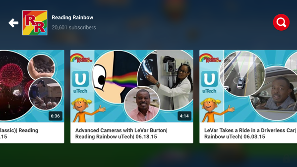 Reading Rainbow on YouTube Kids