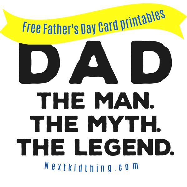photo about Printable Man Card referred to as Do it yourself Information: Absolutely free Fathers Working day Printable Card The Subsequent Youngster Point