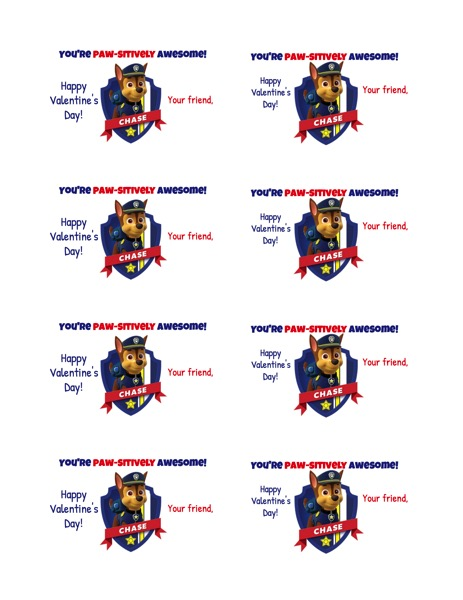 image relating to Paw Patrol Logo Printable identified as Free of charge Printable: Paw Patrol Cl Valentines The Following Little one Detail