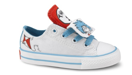 bced648051d3f2 Converse has added some fun Dr. Suess-themed kicks to their lineup of  timeless shoes. Kids can choose from eight different kinds of Chucks in the  Dr. Seuss ...